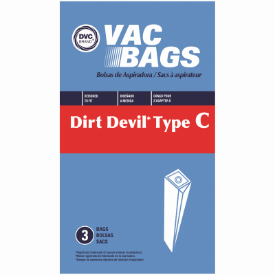 3PKDirt Devil C Vac Bag