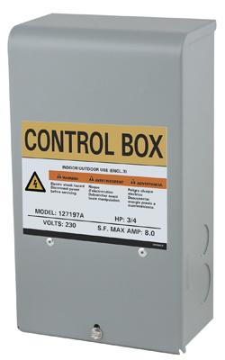 3/4 HP 230V Control Box