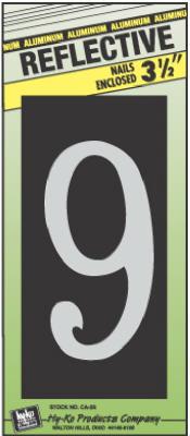 """3-1/2"""" Refl ALU Num 9"""