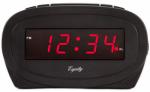 0.7 LED BLK Alarm Clock