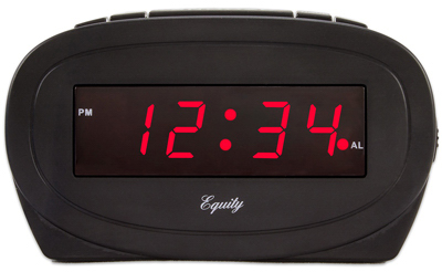 0.6 LED BLK Alarm Clock