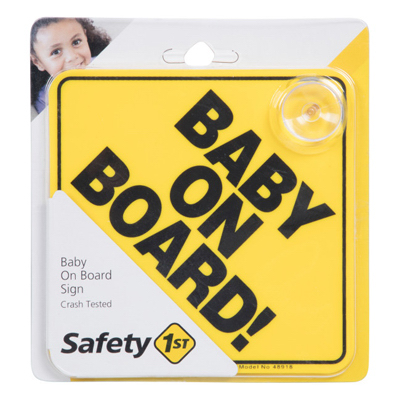 YEL Baby On Board Sign