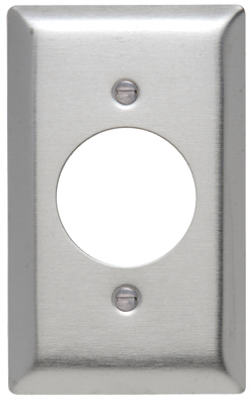 "1G 1.576"" SS Wall Plate"