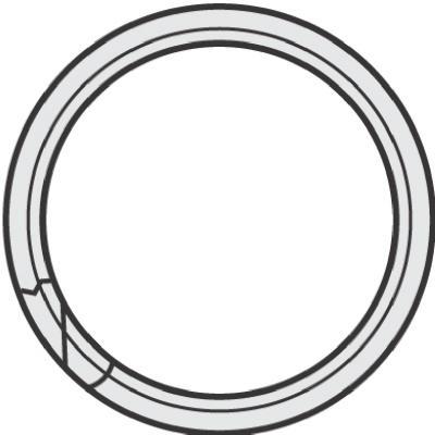 "100PK1/2""Split Key Ring"
