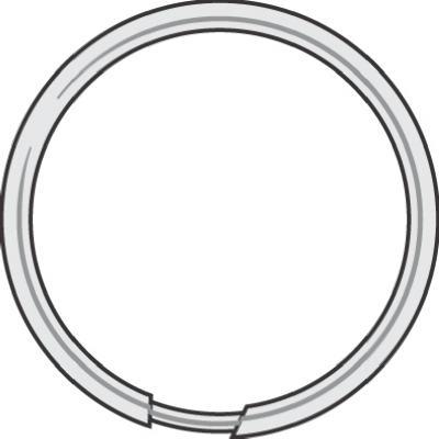 "100PK1-1/8""Spl Key Ring"