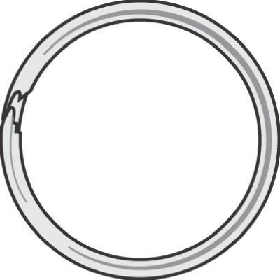 "100PK1-1/4""Spl Key Ring"