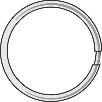 "100PK1-3/8""Spl Key Ring"
