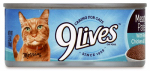 JM SMUCKER RETAIL SALES 10079100003249 5.5 OZ, 9 Lives, Chicken & Tuna Dinner, Canned Cat