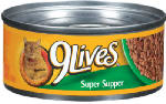 JM SMUCKER RETAIL SALES 10079100003270 5.5 OZ, 9 Lives, Super Supper Canned Cat Food.<br>Made in: