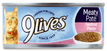 JM SMUCKER RETAIL SALES 10079100004024 5.5 OZ, 9 Lives, Seafood Platter Canned Cat Food.<br>Made in: