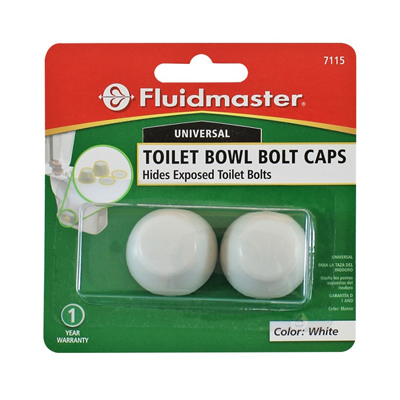 2PK WHT Toilet Bowl Cap