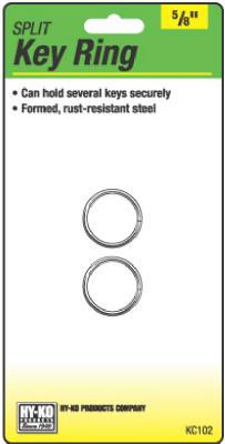 "2PK 5/8"" Split Key Ring"