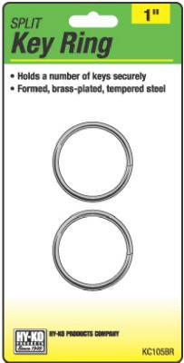"2PK 1"" BRS Split Ring"