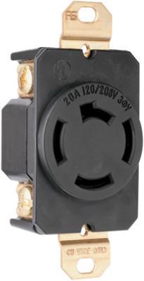 20A 208V BLK LockOutlet