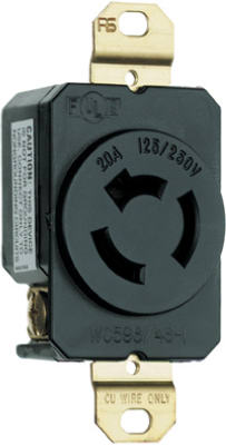 20A 250V BLK LockOutlet