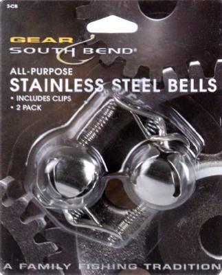 2PK SS RND Bells/Clip