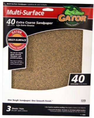 3PK 9x11 40G Sandpaper