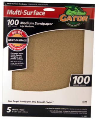5PK 9x11 100G Sandpaper