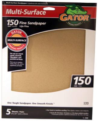 5PK 9x11 150G Sandpaper
