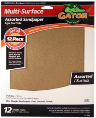 12PK9x11ASSTD Sandpaper