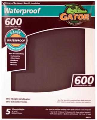 5PK 9x11 600G Sandpaper