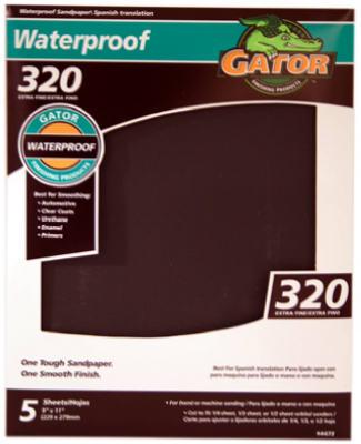 5PK 9x11 320G Sandpaper