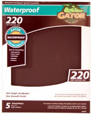 5PK 9x11 220G Sandpaper