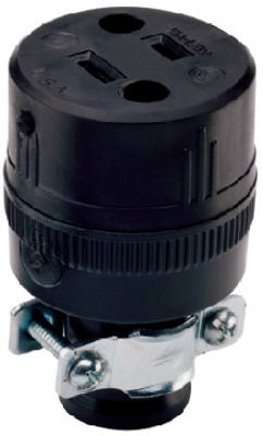 15A BLK Resid Connector