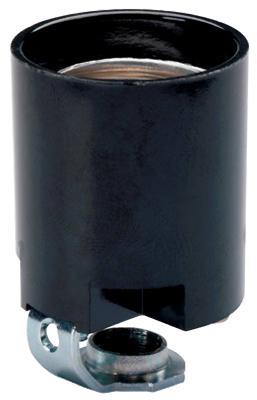 15A BLK Fixture Socket