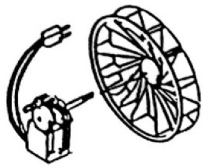 70CFM Fan Motor/Wheel