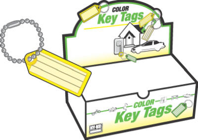 100PK ID Key Tag/Chain