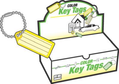 100PK ID Key Tag/Chain