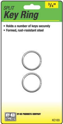 "2PK 3/4"" Split Key Ring"