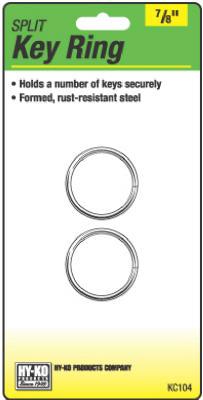 "2PK 7/8"" Split Key Ring"