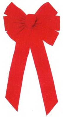 7 Loop RED Velvet Bow