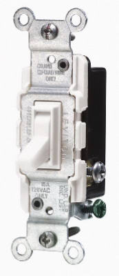 15A WHT 3W Quiet Switch