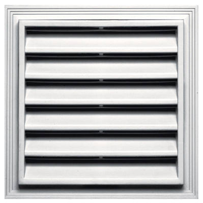 12x12 SQ WHT Gable Vent
