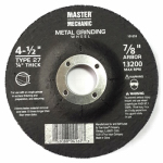 Disston 101253 Arbor Metal Depressed Center Grinding Wheel, 4.5 x 0.25 x 7/8-In.