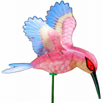 Exhart Environmental Systems 50206 Garden Stake, Hummingbird, 7-In.