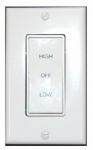 Air Vent 58030 Ventilator Fan Rotary Wall Switch, 2-Speed