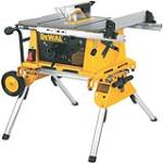 DeWalt DW744XRS 10'' Table Saw/Roll Stand