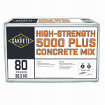 Sakrete Of North America 65200370 5000 Plus Concrete Mix, 80-Lbs.