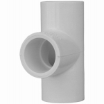 Genova Products 31420 PVC Pressure Pipe Fitting,Tee, White PVC, 2-In.