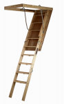 Louisville Ladder S305P Wood Attic Ladder, 7 To 8-Ft. 9-Inch 350-Lb. Capacity