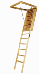Louisville Ladder L305P Wood Attic Ladder, 8-Ft. 9-Inch -10-Ft. 350-Lb. Load Capacity