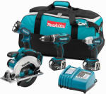 Makita Usa XT405 Cordless Tool Set, 18-Volt Lithium Ion, 4-Pc.