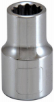 Apex Tool Group-Asia 105346 1/2-Inch Drive 7/16-Inch 12-Point Socket