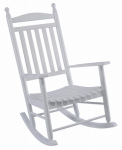 Jack Post KN-22W Knollwood Collection Classic  Porch Rocker, White Hardwood