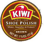 Kiwi 1-01-013 1-1/8OZ Brown Shoe Paste