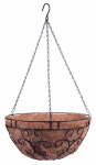 Panacea Products Corp-Import 88620 14-Inch Black Romantic-Style Hanging Basket